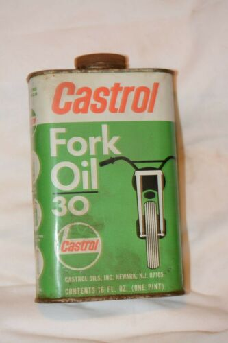 Vintage 1970s Castrol Fork Oil 30 Can/Tin