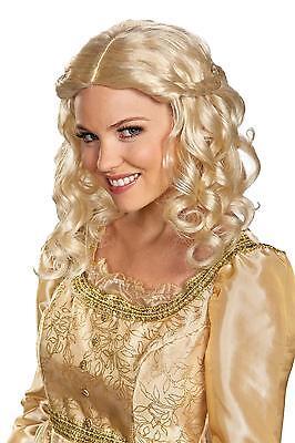 Erwachsene Disney Prinzessin Aurora Dornröschen Blonde Perücke Kostüm DG71816
