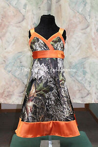 #3 New Custom CAMO Flower Girl Dress A Line T Length sizes 2-16