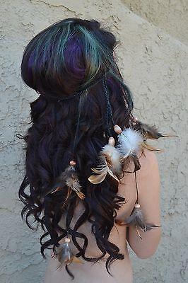 Feather Headband - Festival Headband - Hippie Headband - Hair Accessories - Boho](Festival Accessories)