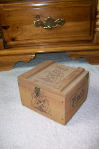 Vintage PINCH Wooden Scotch Crate