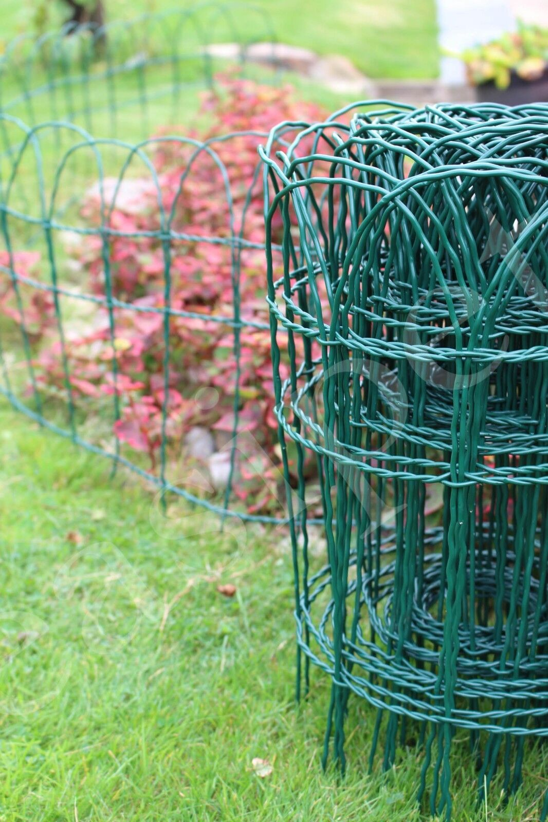 garden fence - Garden Border Fence Lawn Edging 10m Green PVC Coated Wire Edge Fencing 3 Sizes