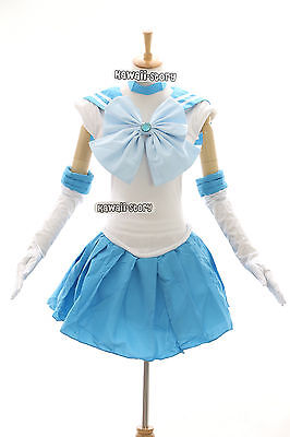 H-6004 Sailor Moon Merkur Amy Mercury hell-blau Cosplay - Sailor Merkur Kostüme