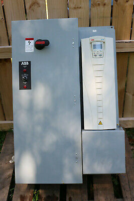 ABB ACH550-UH-072A-4 50hp 480V 72A HVAC VFD WITH BYPASS and enclosure