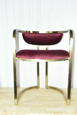 MoDRN Glam Marni Metal Base Dining Chair Gold & Red Velvet  ()