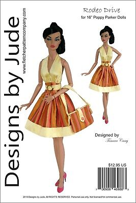 Rodeo Drive Doll Clothes Sewing Pattern for 16
