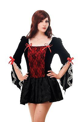 Damen Sexy French Maid Kostüme (Kostüm Damen Kleid Sexy Barock Gothic Cosplay Märchen Piratin French Maid L070)