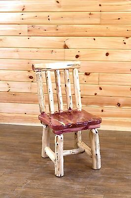 Spindle Back Cherry - Rustic Red Cedar Log Dining Chair- Spindle Back  - Amish Made in USA