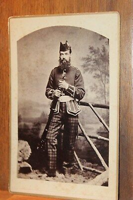 Antique 1881 CDV John White Dunfermline Scotland King's Own Scottish Borderers