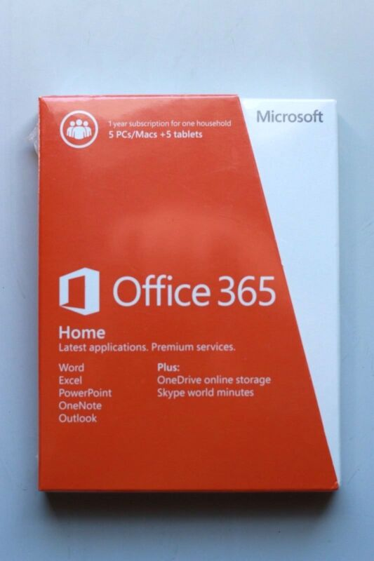 Office 365 Home, 1-year subscription, 5 PCs/Macs (Product Key Card) Android|Mac|Windows|iOS 6GQ-00634