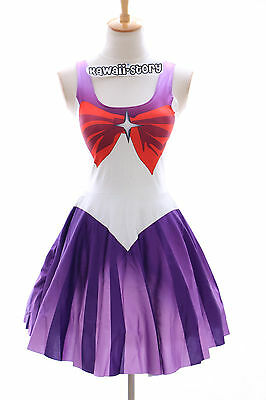 SK-05 Gr. S-M Sailor Moon Saturn lila Kleid dress Cosplay Manga Kostüm Anime