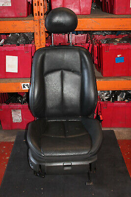 MERCEDES E CLASS W211 E320 CDI 2003 OSF FRONT DRIVER SIDE LEATHER SEATS IN BLACK