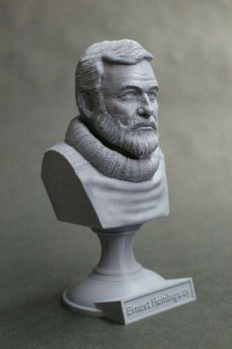 Ernest Hemingway 5 inch 3D Printed Bust American Journalist Art FREE SHIPPING