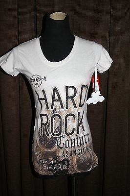 NEW W TAGS~ HARD ROCK CAFE~ COUTURE~ ASUNCION~ SIZE SMALL~ OATMEAL COLOR