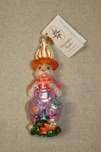 Christopher Radko HILLY BILLY BUNNY Ornament 2001
