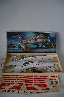 Original DDR Interflug TU-134 Modellbaukasten unbespielt Flugzeug