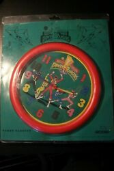 Power Rangers Wall Clock 1994 Nelsonic *new and working*