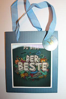 Geschenk Tüte 3D Happy Birthday Geburtstag Männer Junge Du bist der Beste Neu 16 ()