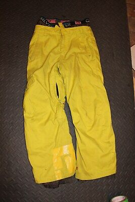 Quicksilver YL ski snowboarding pants yellow size 14