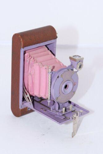 Kodak PETITE Vest Pocket Model B 127 film folding camera in LAVENDER with stylus