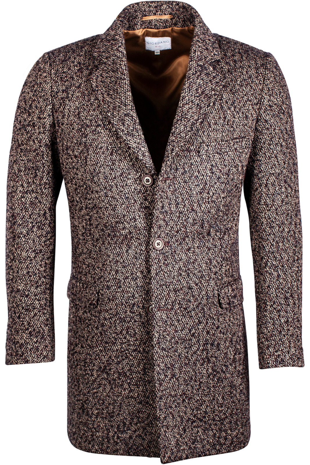 Giordano 922627 Col 60 Mid Length Blue & Brown Coat