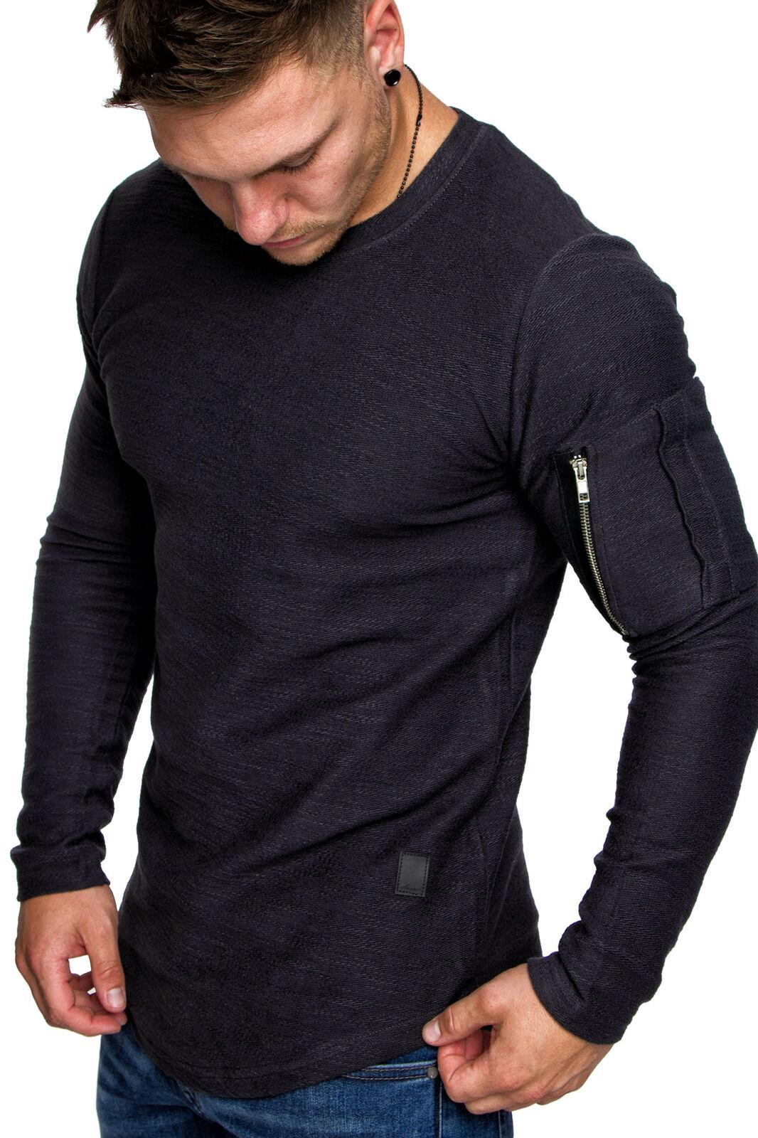 Oversize Vintage Herren Pullover Cargo-Style Hoodie Sweatshirt Crew-Neck 6067