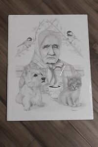 Eddy-Cobiness-Jr-2014-034-Tea-time-with-Apples-and-Molly-034-15-034-x-20-034-pencil-drawing