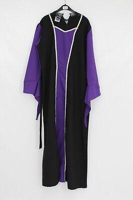 Halloween Fancy Dress Hire (Women's Halloween Black Purple Vampiress Ex Hire Fancy Dress Costume 40