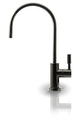 APEC Ceramic Disc non-air gap RO Water Filter Faucet Gloss Black - FAUCET-CD-GB (Black Gloss Faucet)