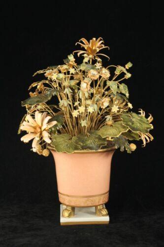 """Gorham Jane Hutcheson 9½"""" Fleurs des Siecles Metal & Enamel Flowers in Cache Pot"""