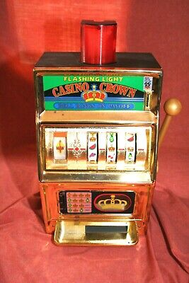 "Vintage Waco 16""  NoveltyOne Arm Bandit Slot Machine Coin Bank-ALL WORKING"
