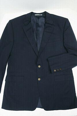 HICKEY FREEMAN Navy Blazer Wool & Cashmere Madison 46L 2 button