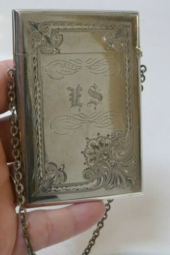 Antique 1852/1865 Gorham Sterling Silver Card Case