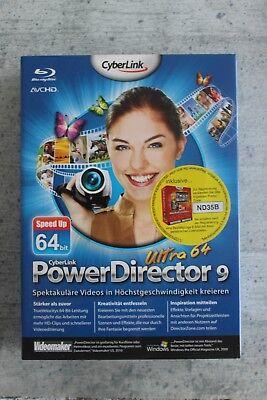 Cyberlink PowerDirector 9 Ultra 64  DE blu-RAY+HD ready