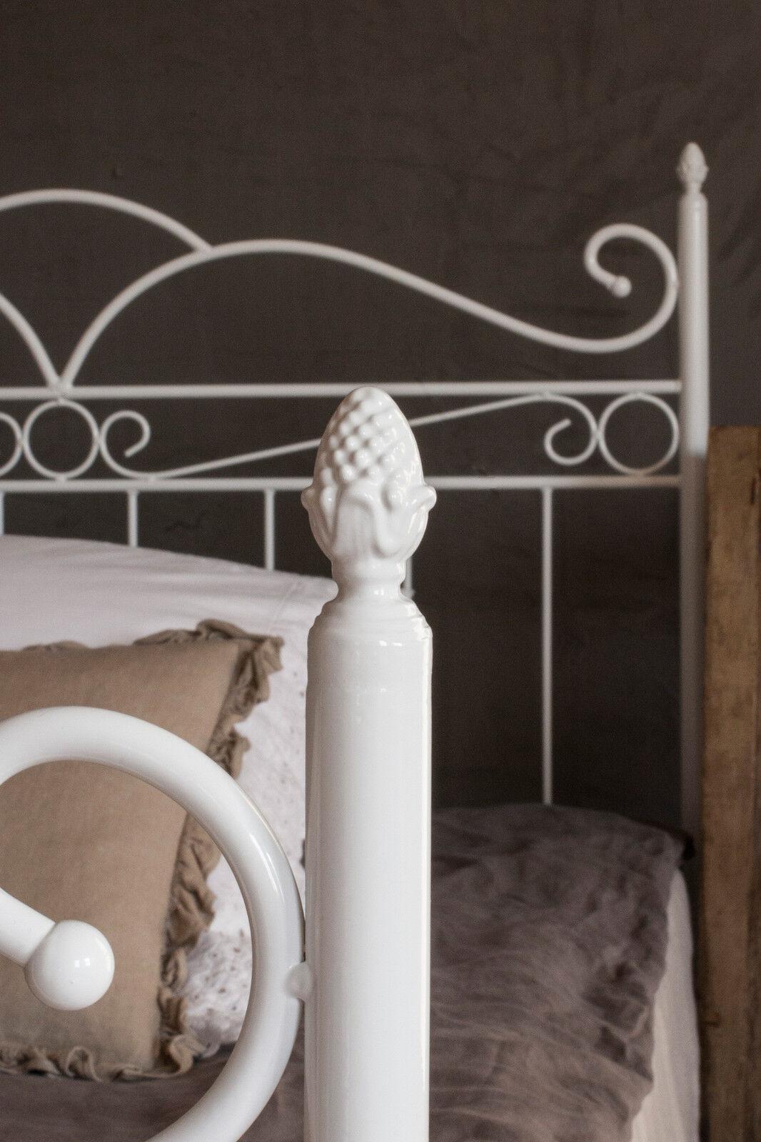 vintage flair metallbett 160x200 in weiss ecru oder schwarz inkl lattenrost eur 275 00. Black Bedroom Furniture Sets. Home Design Ideas