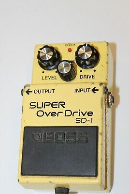 BOSS SD-1 Super Overdrive Guitar Effect Pedal - (uses ACA supply, 1998) #R3303