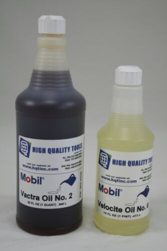 MOBIL VACTRA WAY OIL #2 QUART and MOBIL VELOCITE SPINDLE OIL #6 PINT BRIDGEPORT