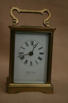 ANTIQUE FRENCH R & CO 8 DAY BRASS CARRIAGE CLOCK FOR TLC