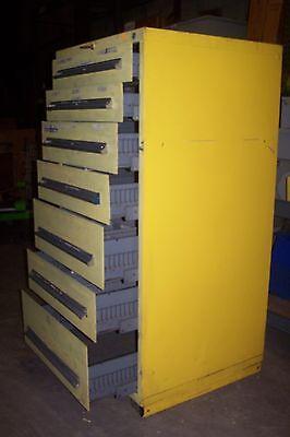 Stanley Vidmar 7 Drawer Cabinet 59 X 30 X 27-34 59t X 30w X 27-34d
