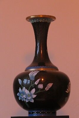 antique chinese cloisonne vase in good condition