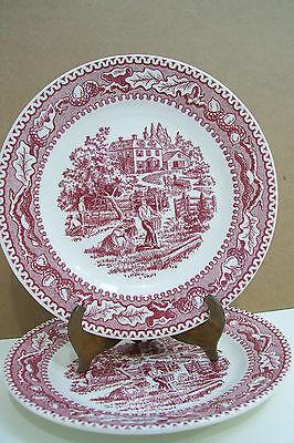 "Vintage Royal China Memory Lane Set Of Two 6 1/4"" Plates"