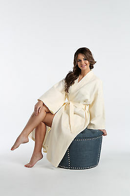 Lot of 10 - Natural color Italian Waffle Weaves Robes - New with Stains