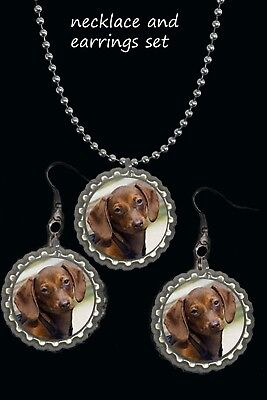 personalized pet dog cat photo of your pet earring Earrings necklace set gift