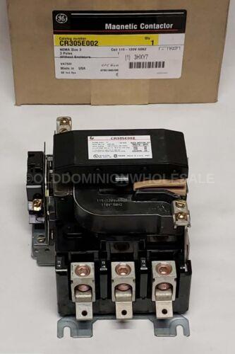 NEW GENERAL ELECTRIC CR305E002 NEMA Size-3 Magnetic Contactors 115-120V Coil