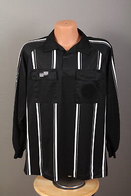Official Sports Soccer Referee Long Sleeve Jersey Shirt ~ Black ~ Mens (Official Sports Soccer Referee)