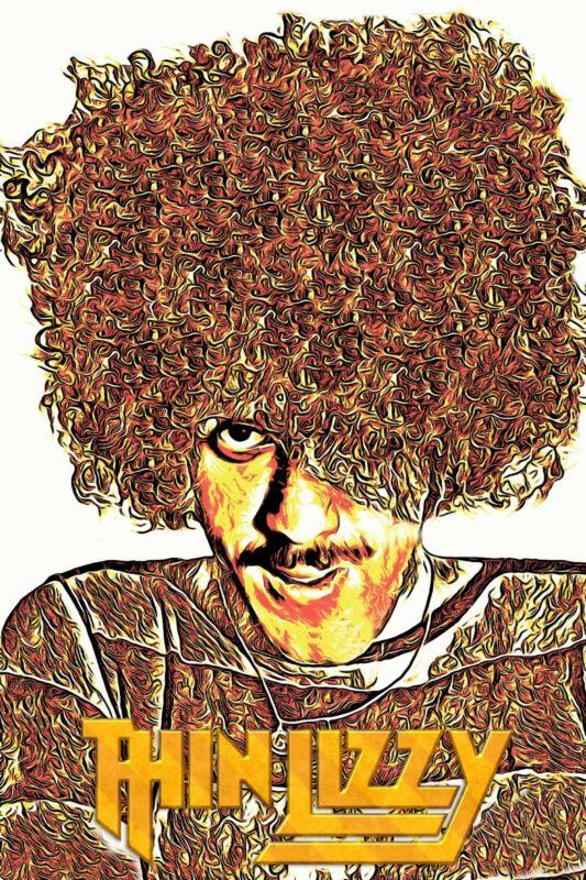 "Thin Lizzy Poster Art ""Wild One"" Phil Lynott Tribute Large 20x30 Print"