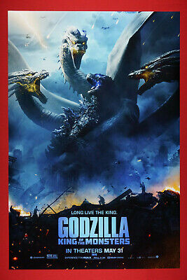 Godzilla King of the Monsters and Ghidorah 2019 Movie Poster 24X36 New GG19