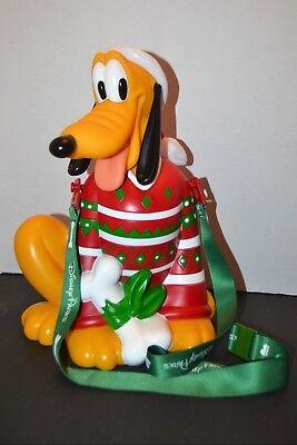 "New Disney Parks Happy Holidays 12"" Popcorn Bucket Pluto Christmas 2018 - Christmas Buckets"