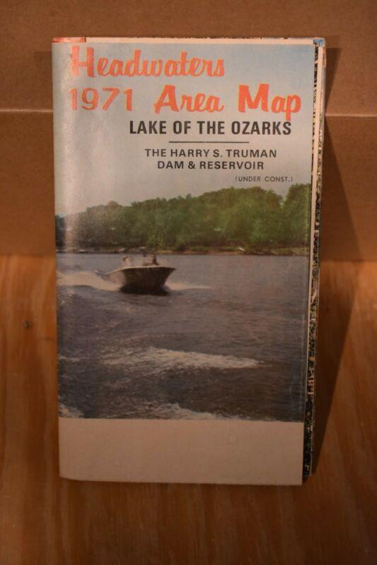 Lake of the Ozarks Missouri Vintage 1971 Map