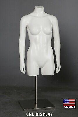 High Quality Fiberglass Female Headless 34 Length Mannequin